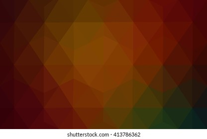 Multicolor dark red, green polygonal illustration, which consist of triangles. Geometric background in Origami style with gradient. Triangular design for your business.