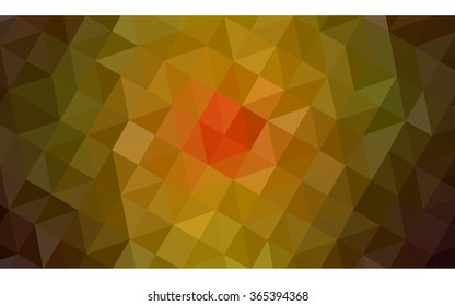 Multicolor dark red, yellow, orange polygonal illustration, which consist of triangles. Geometric background in Origami style with gradient. Triangular design for your business in vector.