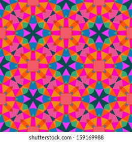 Multicolor Geometric Pattern In Bright Color Vector Seamless Texture For Web Print Wallpaper