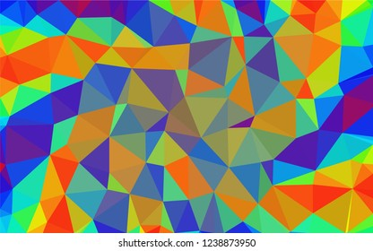 Multicolor geometric triangular low poly low poly style. Gradient background. Polygonal vector