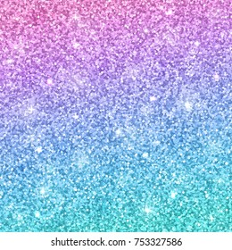 Multicolor glitter background, pink blue gradient. Vector