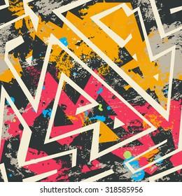 multicolor graffiti seamless pattern