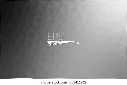 multicolor gray black white monochrome  geometric rumpled triangular low poly style gradient illustration graphic background. Vector polygonal design for your business.