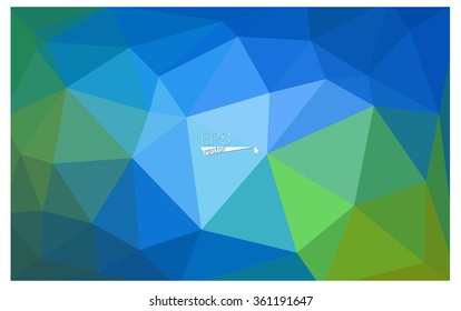 multicolor green, blue geometric rumpled triangular low poly origami style gradient illustration graphic background. Vector polygonal design for your business.