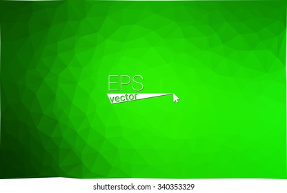 multicolor green geometric rumpled triangular low poly style gradient illustration graphic background. Vector polygonal design for your business.