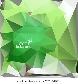 Multicolor ( Green, White ) Design Templates. Geometric Triangular Abstract Modern Vector Background.