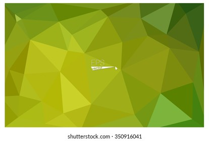 Multicolor green, yellow, orange geometric rumpled triangular low poly origami style gradient illustration graphic background. Vector polygonal design for your business.