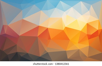 Multicolor modern geometrical abstract background. Can be used as a texture, new background. Geometric background, geometric mosaic tile, Origami style, triangulation technique.