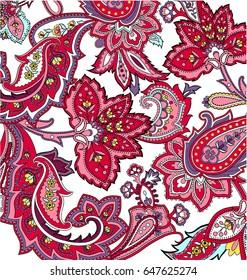 Multicolor paisley ornament vector