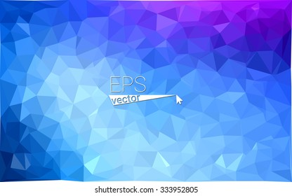 multicolor pink, blue geometric rumpled triangular low poly style gradient illustration graphic background. Vector polygonal design for your business.