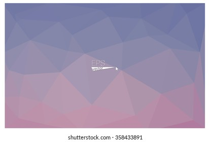 multicolor pink, blue geometric rumpled triangular low poly origami style gradient illustration graphic background. Vector polygonal design for your business.
