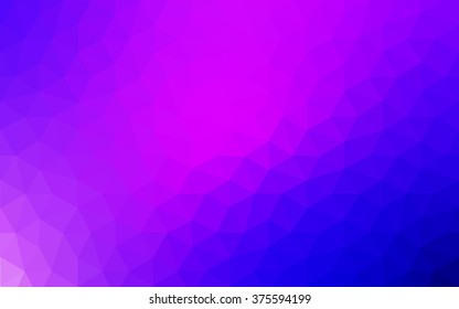 Multicolor pink, blue polygonal illustration, which consist of triangles. Geometric background in Origami style with gradient. Triangular design for your business.