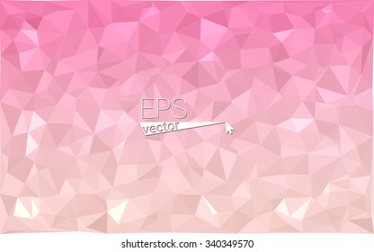 multicolor pink geometric rumpled triangular low poly style gradient illustration graphic background. Vector polygonal design for your business.