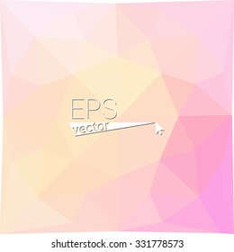 multicolor  pink yellow geometric rumpled triangular low poly style gradient illustration graphic background. Vector polygonal design for your business.