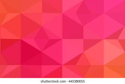 Multicolor pink, yellow polygonal illustration, which consist of triangles. Geometric background in Origami style with gradient. Triangular design for your business.