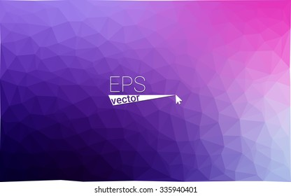 multicolor purple, pink geometric rumpled triangular low poly style gradient illustration graphic background. Vector polygonal design for your business.