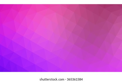 Multicolor purple, pink polygonal illustration, which consist of triangles. Geometric background in Origami style with gradient. Triangular design for your business in vector.
