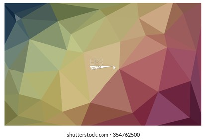 Multicolor red, green geometric rumpled triangular low poly origami style gradient illustration graphic background. Vector polygonal design for your business.