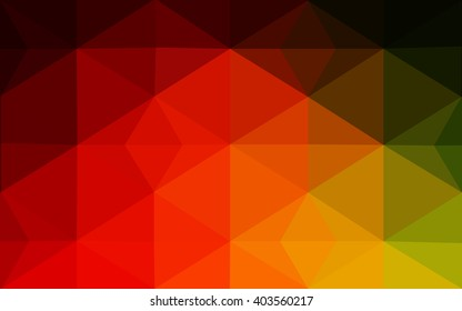 Multicolor red, green polygonal illustration, which consist of triangles. Geometric background in Origami style with gradient. Triangular design for your business.