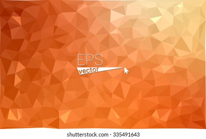 Multicolor red, yellow, orange  geometric rumpled triangular low poly style gradient illustration graphic background. Vector polygonal design for your business.