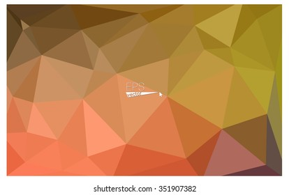Multicolor red, yellow, orange geometric rumpled triangular low poly origami style gradient illustration graphic background. Vector polygonal design for your business.
