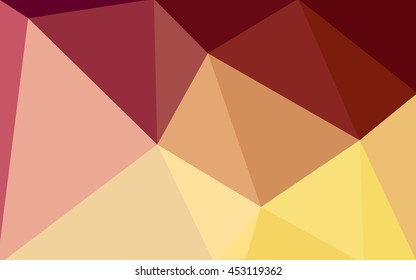 Multicolor red, yellow, orange polygonal illustration, which consist of triangles. Geometric background in Origami style with gradient. Triangular design for your business.