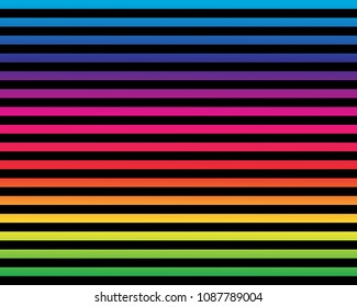 Multicolor seamless horizontal striped pattern. Ethnic background. Vector illustration. Rainbow color texture for backdrop. Retro style. Summer pattern for kids.