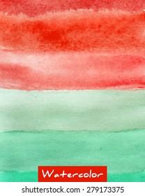 Multicolor striped watercolor hand drawn vector background
