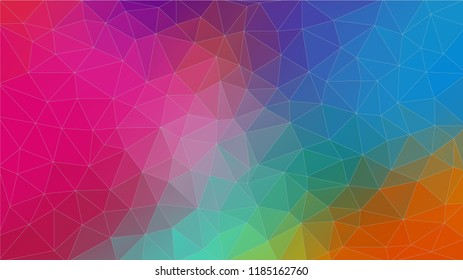 Multicolor triangle abstrat background. Geometric pattern gradients. Eps10 vector.