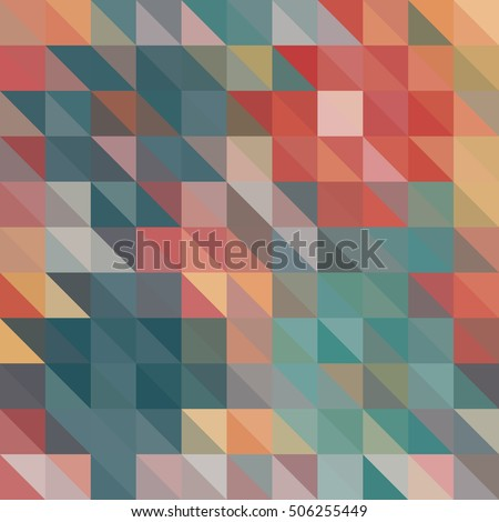 Multicolor Triangle Geometric vector background