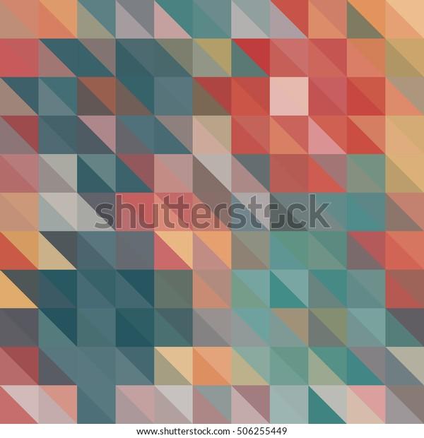 Multicolor Triangle Geometric vector background