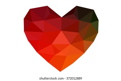 Multicolor triangular low poly origami style gradient graphic illustration. Vector polygonal design for your business.