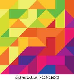 mehrfarbiger Hintergrund für geometrische Formen. Vektorillustration Hintergrund