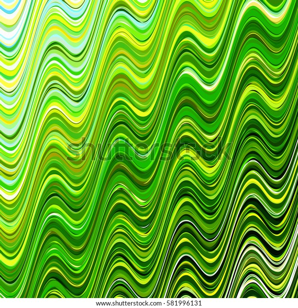 Multicolored abstract spring background with lime wavy lines