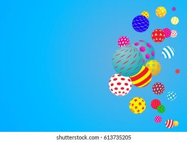 Multicolored decorative balls. Abstract vector illustration.