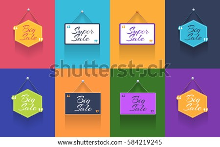 Multicolored Flat Web Ad Template Vector Stock Vector Royalty Free