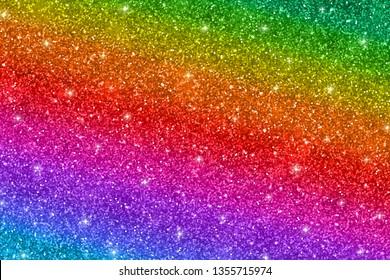 Multicolored glitter background, diagonal stripes. Vector