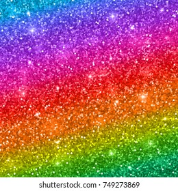 Multicolored glitter background. Vector