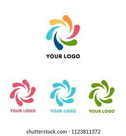 multicolored logo children's windmill