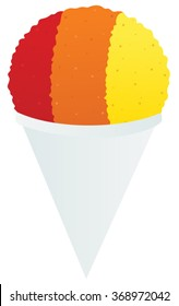 Multicolored snow cone