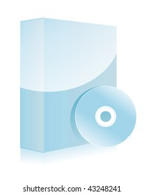 Multicolored software boxes with cd disks