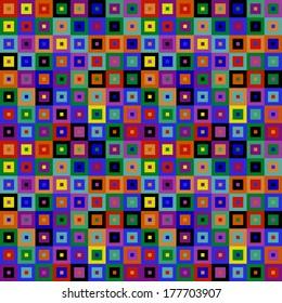 Multicolored Squares Mosaic