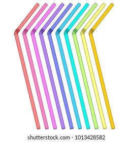 Multicolored straws set/Sipper, bendie