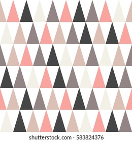 Multicolored triangles, seamless abstract vector pattern.