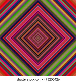 Multicolored vibrant rhombus pattern. Vector illustration.