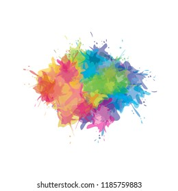 multicolored watercolor splash background. vector illustration
