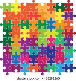 multicolour jig saw puzzle