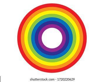 Multicoloured rainbow circle vector illustration