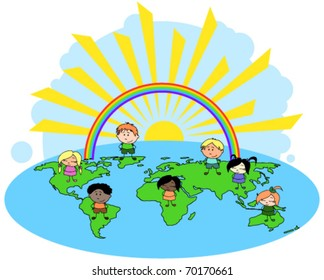 Multiculture children of the world