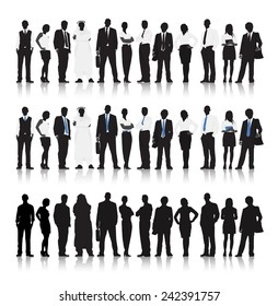 Multi-ethnic Business people Vector